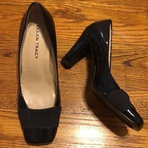 Ellen Tracy Black Patent Leather Heels